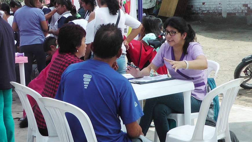 EDUVIDA participa en campaña de salud organizada por Municipalidad de San Juan de Lurigancho