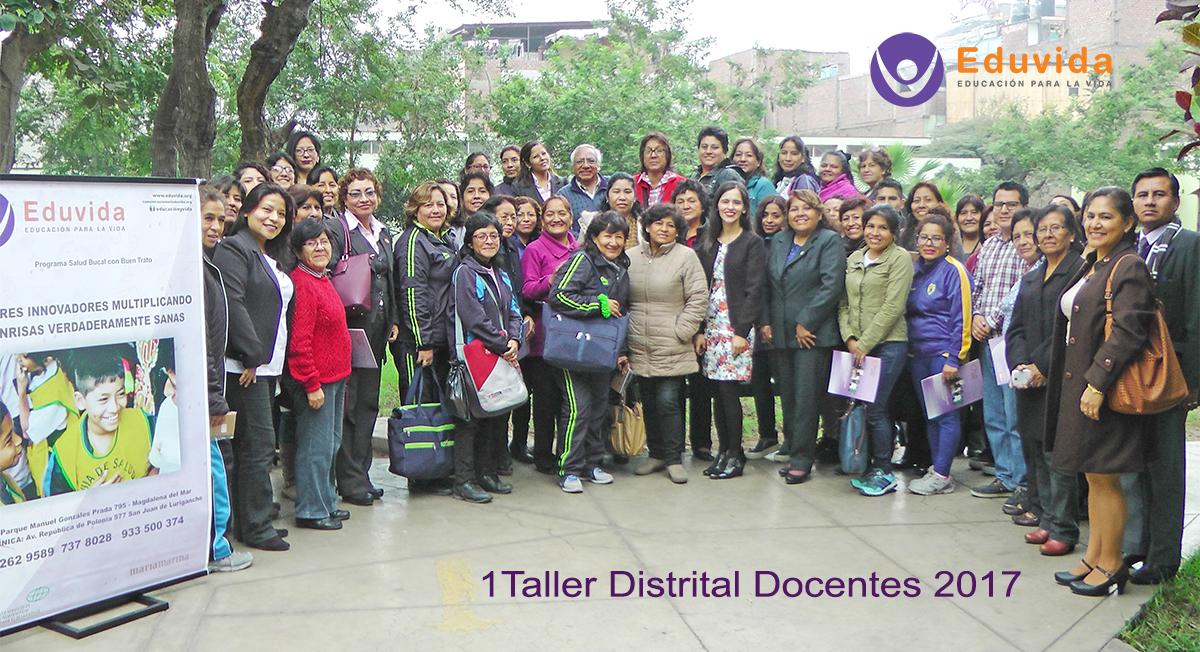 EDUVIDA realizó primer taller distrital para docentes
