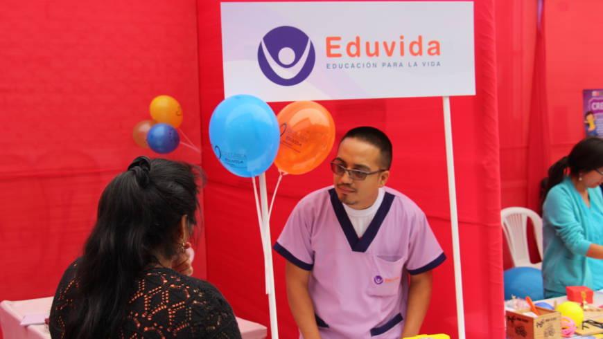 EDUVIDA participó en la Feria Informativa y Campaña de Salud gratuita del Control del Crecimiento y Desarrollo de la Niña y el Niño – CRED